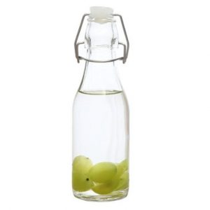 250ml, 500ml and 1000ml round swing top glass bottle easy cap water glass bottle