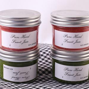 glass jar 250ml 500ml Jelly jam honey caviar with metal lid custom label