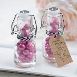 Mini 60ml swing top honey jam candy glass bottle custom printings
