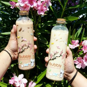 Corked 500ml boba tea glass bottle custom printings