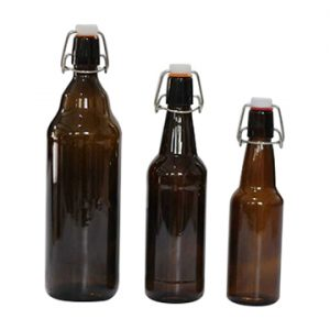 330ml 500ml amber swing top beer glass bottle