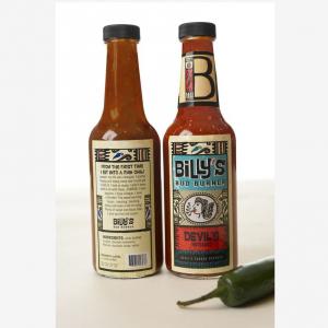 Amazon hotsale 5oz BBQ hot sauce glass bottle custom label