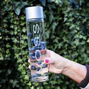 500ml round VOSS style water glass bottle