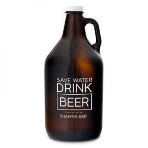 Amazon 2L beer growler amber 64oz beer glass bottle custom label