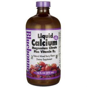 Stocked high quality amber 16oz liquid Calcium glass bottle custom label
