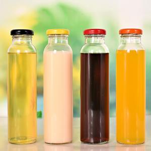 Hotsale 310ml juice iced tea glass bottle with tin lid in stock