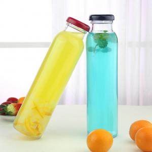Ins hotsale 300ml iced tea juice Kombucha glass bottle with tin lid