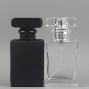 Wholesale square 50ml perfume glass bottle