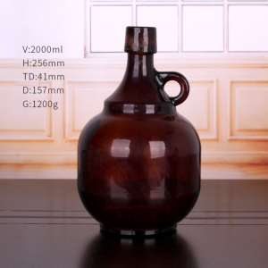 Amber 1L 2L beer growler stout beer glass bottle with swing top
