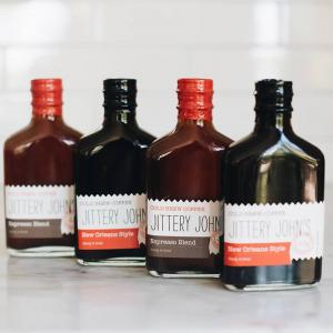 Amazon hotsale flat 200ml cold coffee bottle with custom label takeaway