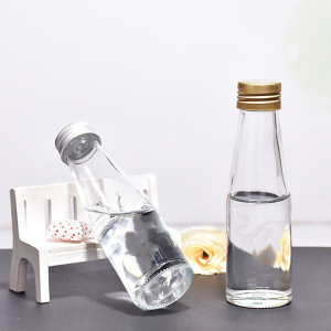 Manufacturer 100ml soft drinks fizzy wine glass bottle custom label