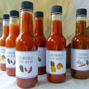 Factory 5oz tomato sauce spicy sauce glass bottle with plastic cap