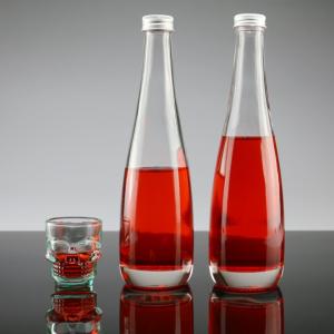 Wholesaler round 330ml juice soda drinks fruit wine glass bottle leak-proof