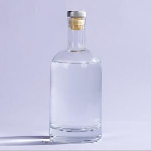 500ml Gin liquor vodka glass bottle with cork custom label