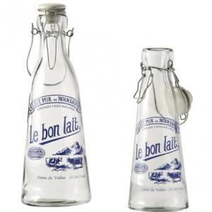 1L glass milk juice bottle swing top