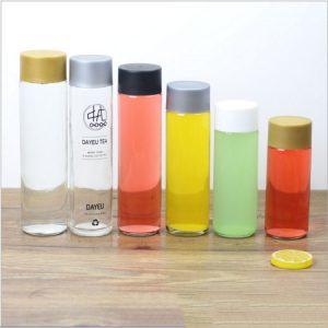 500ml water glass bottle with colorful cap