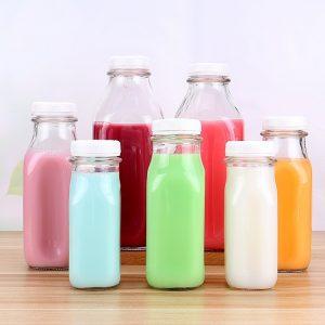 Square milk juice bottle tamper proof plastic cap