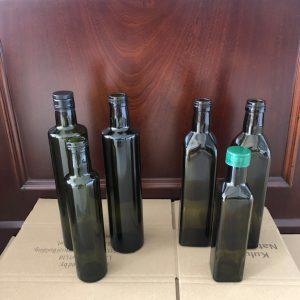 Custom design Olive oil glass bottle