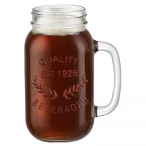 22oz mason glass jar with handle