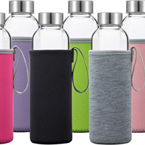 18oz 500ml water glass bottle with sleeve
