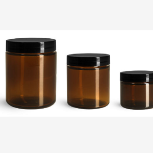 Frosted cosmetic glass spray bottle and jars