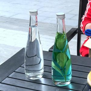 Juice water glass bottle