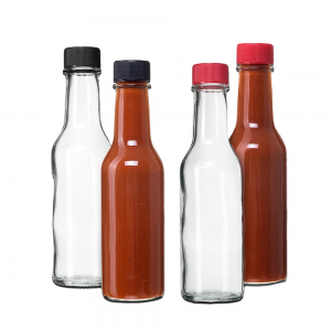 Chilli sauce glass bottle with dripper
