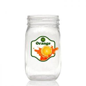 Round and square mason jar glass bottle 500ml