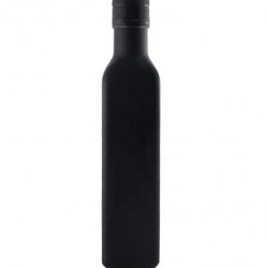 Black square glass olive oil bottle 250ml