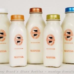anti-tamper cap glass milk juice bottle