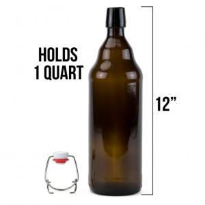 1L craft beer glass bottle swing top