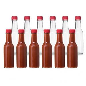Hot sauce chilli paste glass bottle