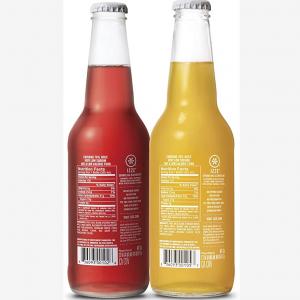 fizzy juice glass bottle