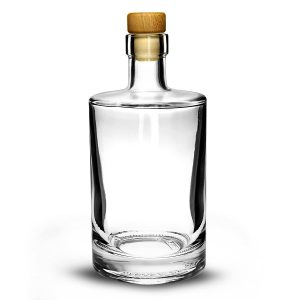 500ml liquor and spirit glass bottle with cork