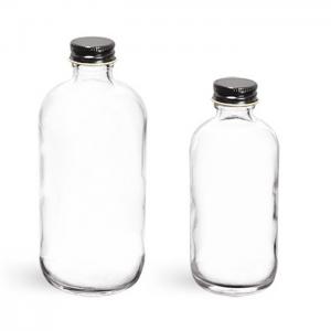 8oz 16oz Boston round glass juice water bottle