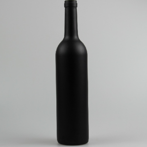 Black glass wine bottle 750ml
