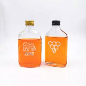 Cheap flat glass juice milk bottle