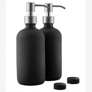 16oz glass soap bottle with pump spray