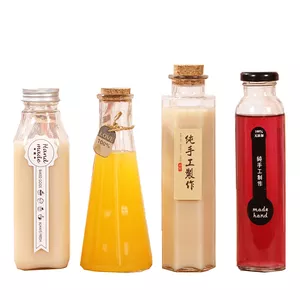 350ml 12oz milk tea juice glass bottle