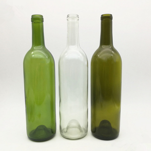 Corked 750ml wine glass bottle in bulk