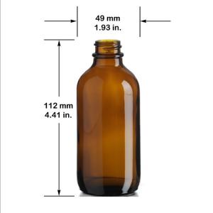 Amber boston round 250ml 8oz iced coffee brew bottle custom label