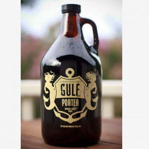Amber 64oz glass beer growler