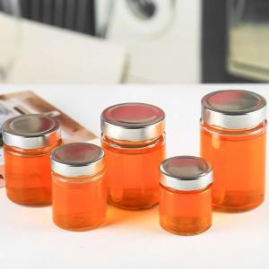 New round honey glass jar custom printing