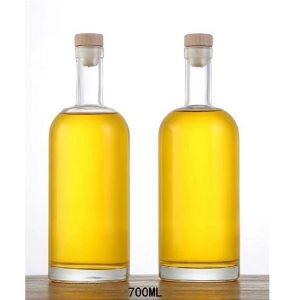 700ml round tall Vodka glass bottle