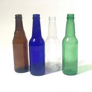 Clear beer  soda water glass bottle crown cap