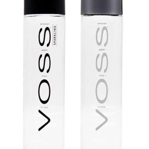 800ml VOSS water glass bottle cusotm logo