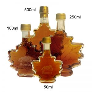 Maple syrup glass bottle custom logo