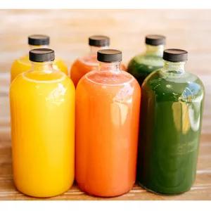 Boston round juice water glass bottle