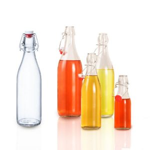 250ml 500ml 750ml 1000ml round swing top glass bottle Kombucha tea bottle
