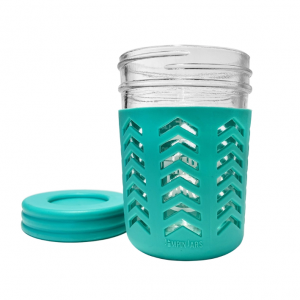 Kids water cups 8oz 12oz milk juice mason jar with plastic caps and sillicon sleeve
